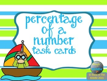 Percentage of a Number Task Cards