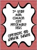 Performance Based Tasks for 5th Grade Common Core *Operati