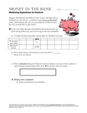 Performance Task Practice: Multistep Equations for Algebra 1