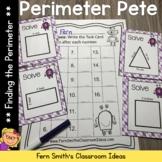 Perimeter Pete Finding Perimeter Task Cards and Printables
