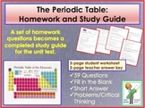 Periodic Table Homework and Study Guide