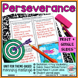 Morning Meeting Perseverance Theme