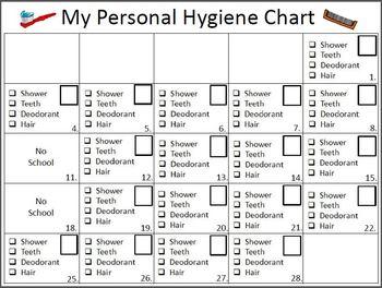 Personal Hygiene Chart