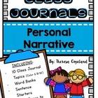 Personal Narrative Class Journals