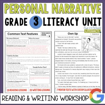 Personal Narrative Reading & Writing Unit: Grade 3...40 Le