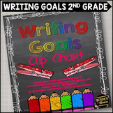 Personal Writing Goals Clip Chart - Grade 2
