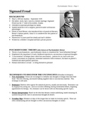 Personalities: Sigmund Freud's Theory