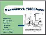 Persuasive Techniques PowerPoint with Relevant Examples