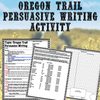 Persuasive Writing Activity (cross curricular math and history)