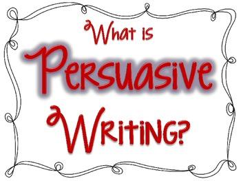 Persuasive Writing Posters FREEBIE