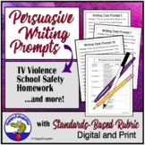 Persuasive Writing Prompt and Task with Standards-Based Rubric
