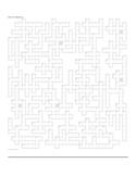 Petit Prince (Little Prince) Lesson Plan Giant Crossword P