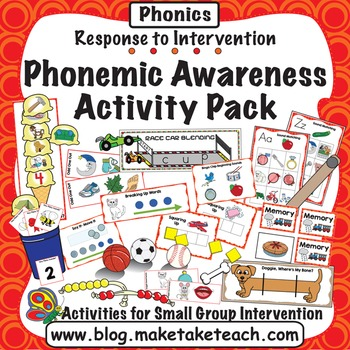 Phonemic Awareness Activity Pack- Response to Intervention