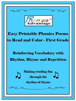 Phonics Advantage Easy Printable Phonics Poems to Read & C