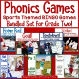 Phonics BINGO Games with Sports Themes-Bundled