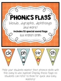Phonics Flags- blends, digraphs, diphthongs and more! {tea
