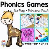 Phonics Games - Print and Go