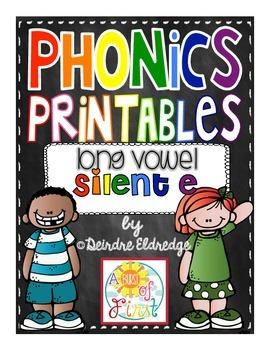 Phonics Printables- Silent E (Common Core Aligned)