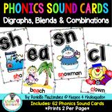 Phonics Sound Cards Poster Set {62 Digraphs, Blends & Comb