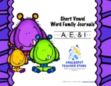 Word Family Journals: Short A, E, & I (CCSS Aligned)