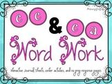 Phonics Word Work {ee, ea}