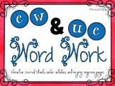 Phonics Word Work {ew, ue}