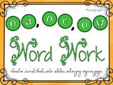 Phonics Word Work {oa, oe, ow}