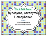 Phonics/Guided Reading Activities: Word Grid Synonyms and