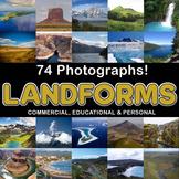 Photos / Photograph LANDFORMS 74 images, Commercial Use OK