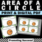 Pi Day Area of a Circle Common Core Math Centers Games Tas