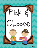 Pick and Choose Literature Activity