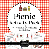 Summer Picnic Literacy Centers Pack - Nine Reading and Wri