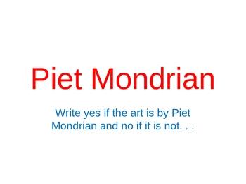 Piet Mondrian Power Point Assessment