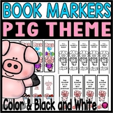 PIG THEME BOOK MARKERS