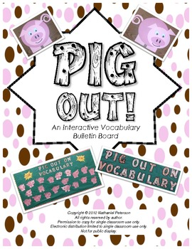 Pig Out on Vocabulary - Interactive Bulletin Board
