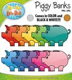 Piggy Bank Clipart Set — Includes 30 Graphics!