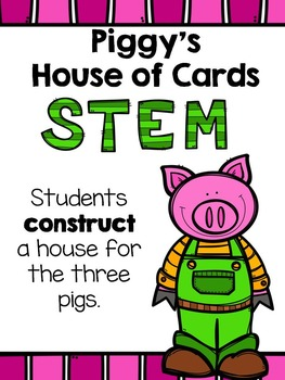 Piggy's House of Cards STEM activity