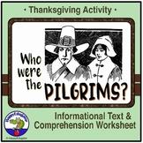 Thanksgiving Activity - Pilgrims