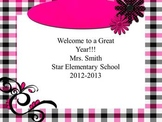 Pink and Black Theme Open House~~ Back to School