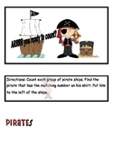 Pirate Counting File Folder Game