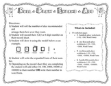 Place Value Game- Roll, Draw, Expand, Add and Write
