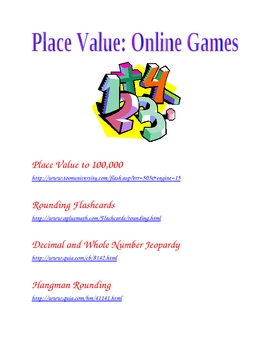 Place Value Games (Interactive/Online)