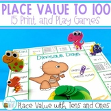 Place Value Games to 100 -  NO PREP Games and Interactive