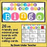Place Value Hundreds, Tens and Ones Bingo Math Game