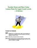 Place Value & Number Sense Lesson Plans for Upper Grade Levels