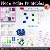 Place Value Printables Worksheets and Game