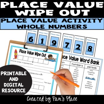 Place Value Wipe Out with Common Core Connection
