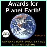 Earth Day, Planet Earth Awards, Fun Facts for Your Class,