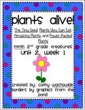 Plants Alive! MMH Treasures 2nd Grade, Unit 2, Week 1