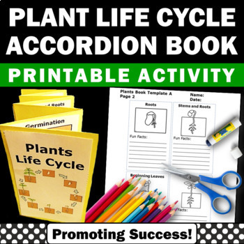 Plants Life Cycle Science Centers Interactive Notebooks Spring Activities